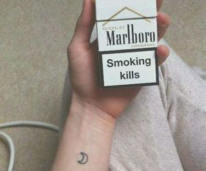 cigarette, tattoo, and marlboro image