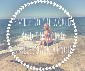 quote, smile, and world image