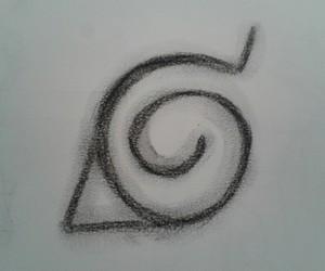 naruto, symbol, and konoha image