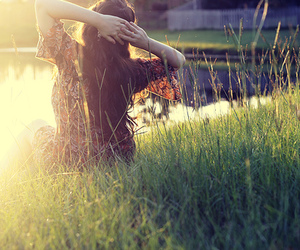 girl and grass image