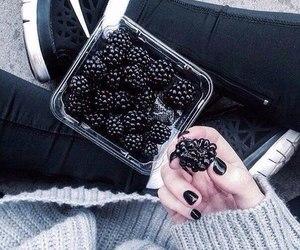 black, food, and nike image