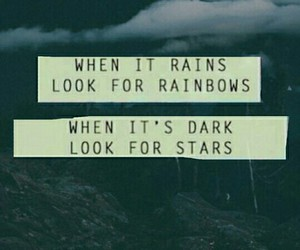 stars, quotes, and rainbow image