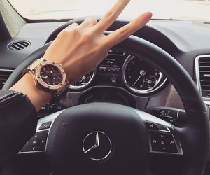 car, mercedes, and nails image