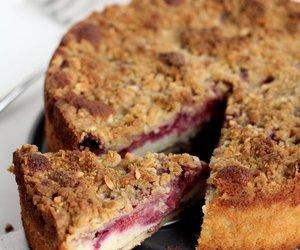 cake, food, and raspberry image