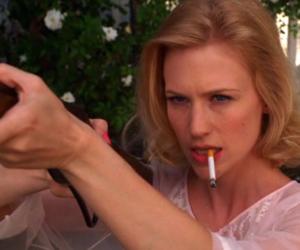 mad men, Betty Draper, and gun image