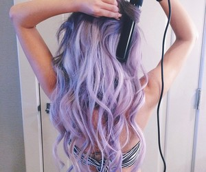 fashion, hair, and purple image
