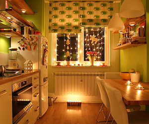 kitchen, lights, and house image