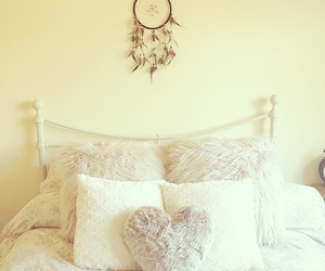 bed, bedroom, and dream catcher image