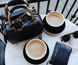 coffee, bag, and sunglasses image