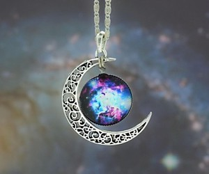 necklace, tumblr, and space gem image