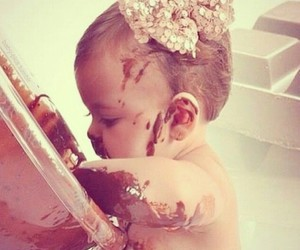 baby, dessert, and nutella image