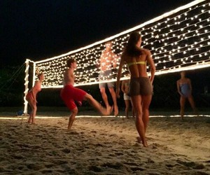 beach, summer, and volleyball image