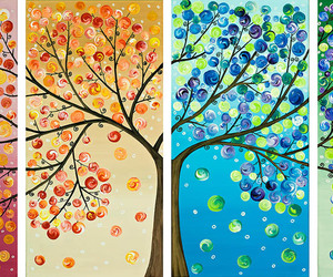 paintings, tree paintings, and beautiful tree paintings image
