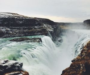 waterfall, travel, and water image