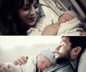 baby, christian grey, and dakota johnson image