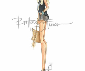 outfit, drawing, and fashion image