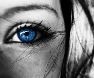 blue eye, color splash, and eye image