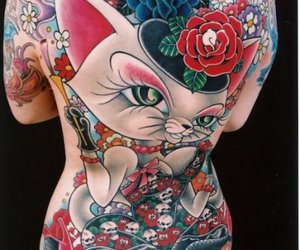 tattoo, cat, and ink image