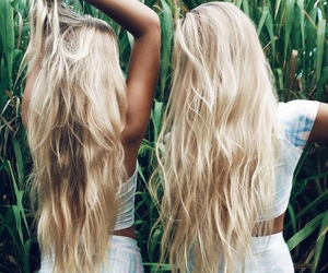 hair, blonde, and summer image