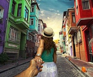 travel, couple, and follow me image