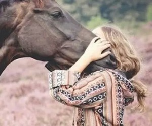 girl, love, and horses image