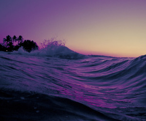 purple, beach, and sea image