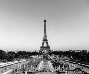black-white, france, and eiffel image