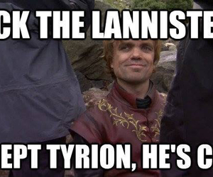 game of thrones, funny, and lannister image