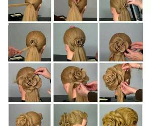 hairs, hairstyles, and rose image