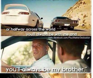 paul walker, Vin Diesel, and fast and furious image