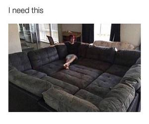 bed, couch, and sofa image