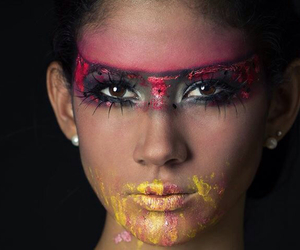 body painting, brave, and colorful image