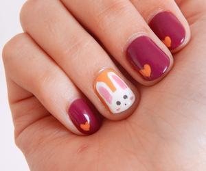 easter, fucsia, and nail art image