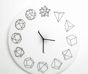 clock and white image