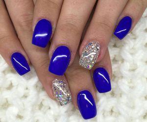 blue, nailart, and glitter image