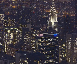 light, city, and new york image