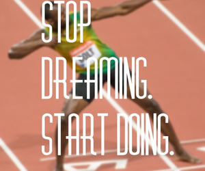 bolt, determination, and quote image
