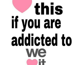 heart, we heart it, and addicted image