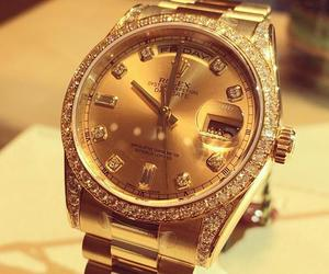 rolex, gold, and watch image