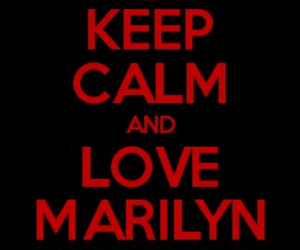 black, keep calm, and Marilyn Manson image