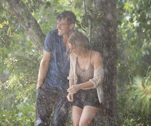 couple, raining, and summer image