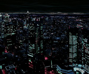 city, city lights, and colors image