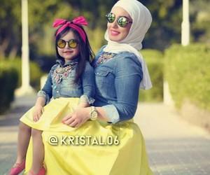 baby, diamond, and hijab image