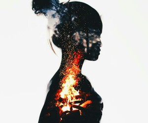 girl and fire image