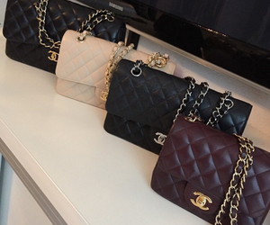 chanel, bag, and black image