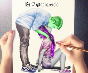 drawing, teen titans, and bbrae image