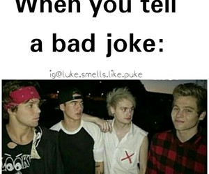 funny, luke hemmings, and calum hood image