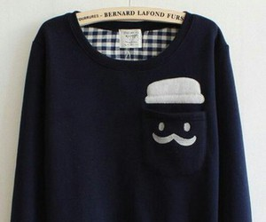 sweater and moustache image
