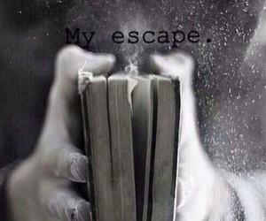 book, escape, and black and white image