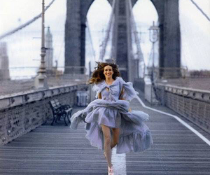 sarah jessica parker, bridge, and sex and the city image